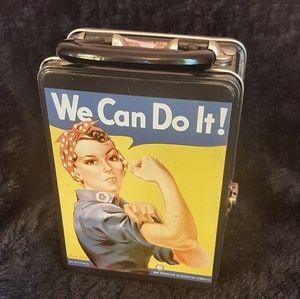 Rosie the Riveter Metal Box